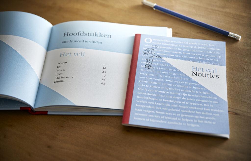 Het boek Het Wil en notitieschrift